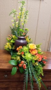 Autumns Blessing  Fresh Urn Arrangement