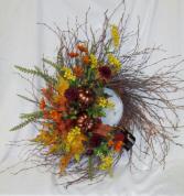 Autumn's Bounty Wreath Permanent Arrangement by Inspirations Floral Studio