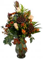 Autumns Garden  Vase Arrangement in Akron, Pennsylvania | ROXANNE'S FLOWERS