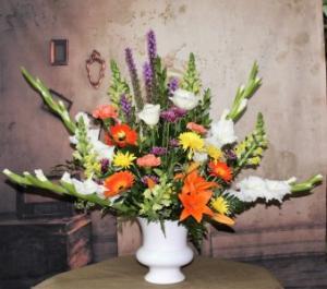 Autumn's Hope Floor Basket in Stevensville, MT | WildWind Floral Design Studio