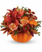 Autumns Joy  Ceramic Pumpkin in New Port Richey, Florida | FLOWERS TODAY FLORIST