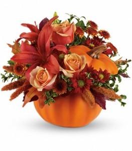 Autumns Joy Flowers Keepsake Container