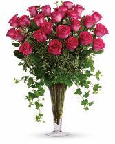 Long Stem Pink Roses 2 dozen