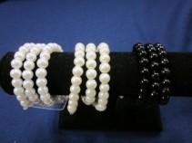Avery Pearl Wristlet,White,Ivory,Black, $10.00