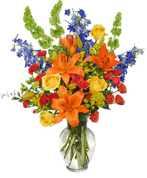 AWE-INSPIRING AUTUMN Floral Arrangement in Fresno, CA | RAINBOW FLOWERS