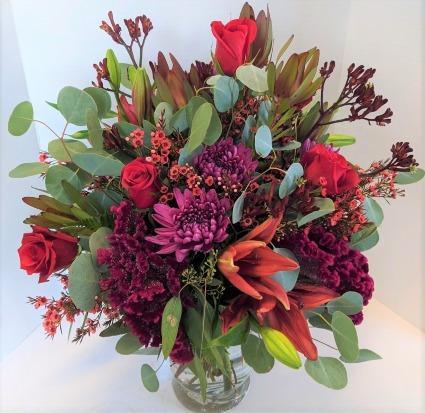 Awe-Inspiring Love Fresh Vase Arrangement