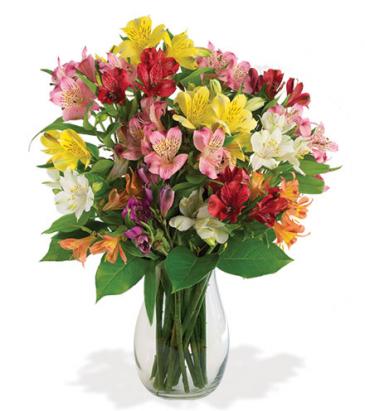 Awesome Alstroemeria Vase Arrangement