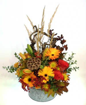 Awesome Autumn Container Arrangement in Invermere, BC | INSPIRE FLORAL BOUTIQUE