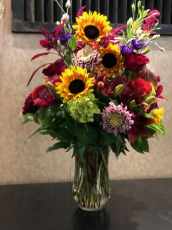 Awesome Autumn Vase Arrangement