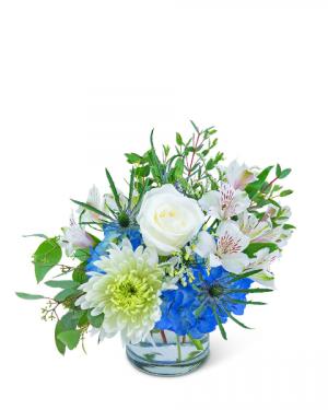 Azure Horizon Flower Arrangement in Nevada, IA | Flower Bed
