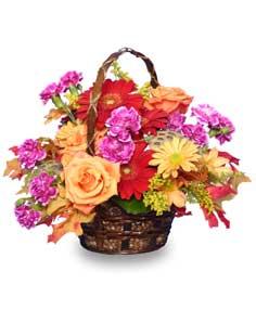 GARDEN CRESCENDO Floral Basket