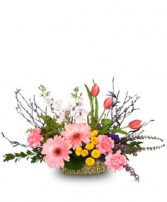 BREATH OF SPRING Flower Basket