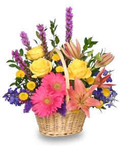 HAVE A SUNNY DAY! Flower Basket