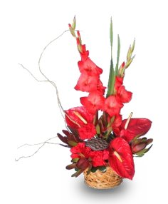 TROPICAL GETAWAY Basket of Flowers
