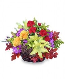 PORTRAIT OF FALL  Basket of Flowers