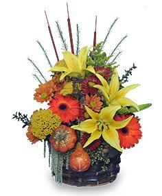 AUTUMN MEADOWS Flower Basket