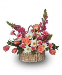 SWEET EXPRESSIONS BASKET Flower Arrangement