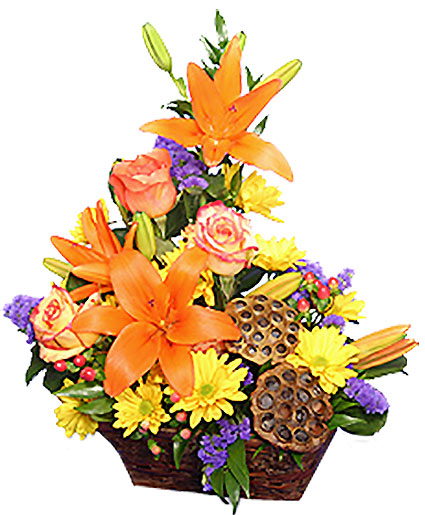EXPRESSIONS OF FALL Flowers in a Basket