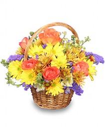 HARVEST HARMONY  Flower Basket