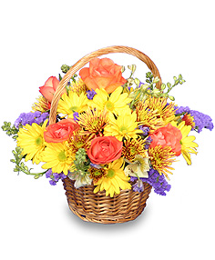HARVEST HARMONY  Flower Basket