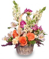 FRESH BREEZE Flower Basket