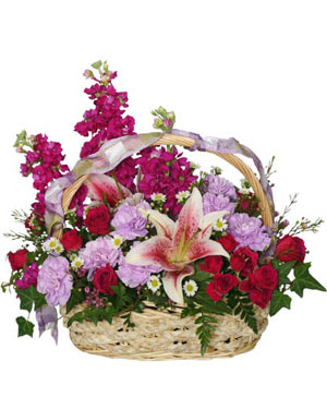 Happy Hugs Basket Flower Arrangement in Groveland, FL | KARA'S FLOWERS