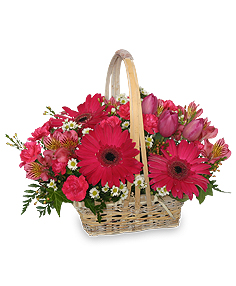 Best Wishes Basket of Fresh Flowers in Springfield, IL | FLOWERS BY MARY LOU INC