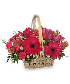 Best Wishes Basket of Fresh Flowers