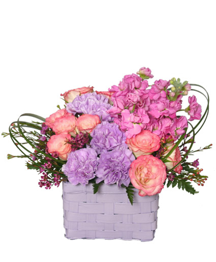I LIKE LILAC BASKET Arrangement