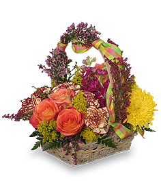 AFTERNOON PICNIC Basket in West Hills, CA | RAMBLING ROSE FLORIST