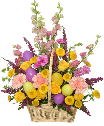 Easter Egg Hunt Spring Flower Basket