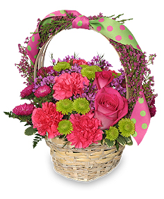 Spring Fever Basket Arrangement in Richland, WA | ARLENE'S FLOWERS AND GIFTS