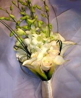 Callas, Roses & Orchids Bridal Wedding Bouquet