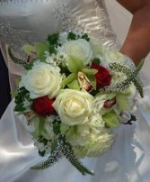 Roses and Orchids Bridal Wedding Bouquet