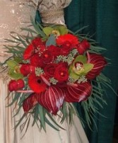 Rudy Red Vibrance Bridal Wedding Bouquet