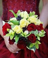 Roses, Orchids & Callas Bridal Wedding Bouquet