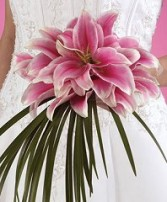 Perfectly Pink Lilies Bridal Wedding Bouquet