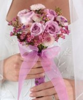 Soft Lavender Clutch Bridal Wedding Bouquet