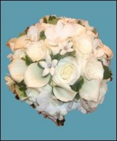 White Roses, Callas & Stephanotis Bridal Wedding Bouquet