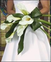 Elegant Calla Presentation Style Wedding Bouquet