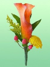 Calla Boutonniere Wedding Party Flowers