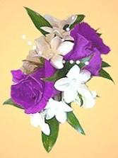 Roses & Stephanotis Corsage Wedding Party Flowers