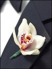 Orchid Boutonniere Wedding Party Flowers