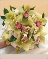 Exotic Cymbidium Orchids Bridesmaid Bouquet
