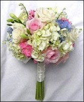 Mixed Pinks, Whites & Blues Bridesmaid Bouquet