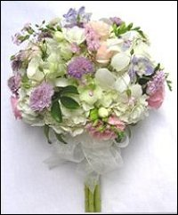 Soft Lilac & Pastel Florals Bridesmaid Bouquet