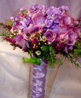 Shades of Purple and Lilac Bridesmaid Bouquet