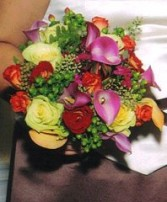 Fall Potpourri of Flowers Bridesmaid Bouquet