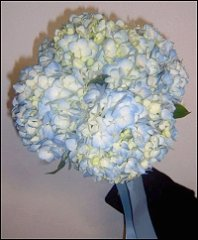 Blue Hydrangeas Bridesmaid Bouquet