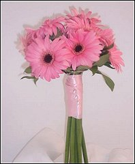 Perfectly Pink Gerberas Bridesmaid Bouquet